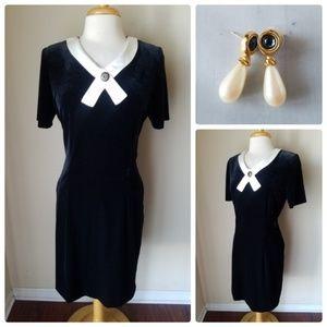 Betsy's Things Vintage Velvet Dress + Earrings